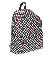 Bleeding Heart Canvas Check Backpack (Multi-Coloured)
