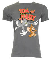 Tom & Jerry T Shirt (Charcoal)