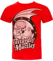 Wacky Races Dastardly & Muttley T Shirt (Red)