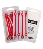 Hickies Laces (Red/Grey)