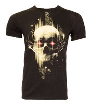 DC Comics Superman Man Of Steel Dark Skull T Shirt (Black)