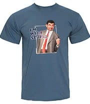 Mr Bean Stupid T Shirt (Blue)