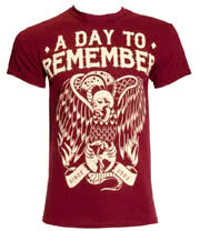 A Day To Remember Vulture T Shirt (Burgundy)