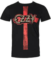 Ozzy Osbourne Cross T Shirt (Black)