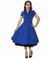 H&R Polka Dress (Blue)
