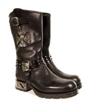 New Rock Boots Biker Style MR030 (Black)