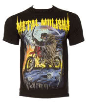 Metal Mulisha Bike Reaper T Shirt (Black)