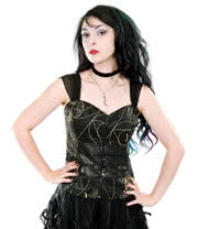 Spin Doctor Pentagram Corset (Black)