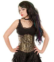 Burleska Underbust C-Lock Kings Gold Corset (Black/Gold)