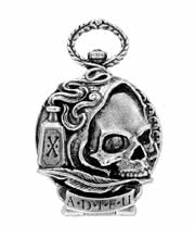 Alchemy Gothic Death Of Byron Pocket Watch (Silver)