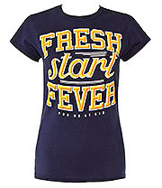 You Me At Six Fresh Start Fever Skinny T Shirt (Navy)