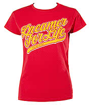 You Me At Six Dreamer Skinny T Shirt (Red)