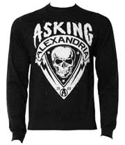 Asking Alexandria Skull Shield Crew Neck Jumper (Black)