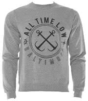 All Time Low Sea Sick Crew Neck Jumper (Grey)