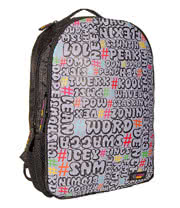 Urban Junk Word Up Day Backpack (Black)
