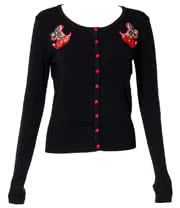 Banned Cute Cherry Cardigan (Black)