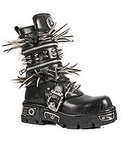 New Rock Boots Long Spike Boots M.280-S1 (Black)