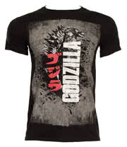 Godzilla Distressed Poster T Shirt (Charcoal)
