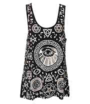 Banned Black Magic Vest Top (Black)