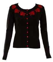 Jawbreaker Cameo Cardigan (Red/Black)