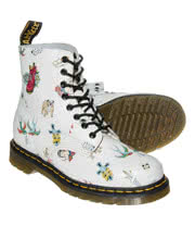 Dr Martens Pascal Skins Tattoo Boots (Off White)