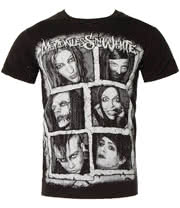 Motionless In White Band Faces T Shirt (Black)
