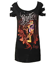 Sullen Angels Secret Whisper Skinny T Shirt (Black)
