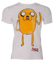 Adventure Time Jake Waving T Shirt (White)