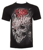 Sullen Skull Melt T Shirt (Black)