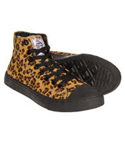 Bleeding Heart Leopard High Top Boots (Natural)