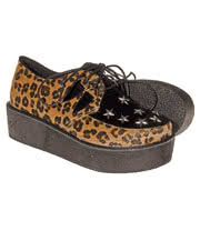 Blue Banana Leopard & Stars Creeper Shoes (Multi)