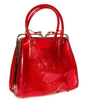 Blue Banana Glitter Jelly Handbag (Red)