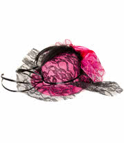 Blue Banana Small Hat With Rose Fascinator (Pink)