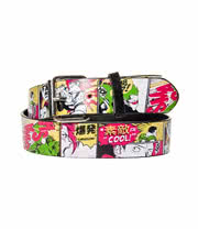 Blue Banana Manga Strip Smash Boom Belt (Multi Coloured)
