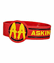 Asking Alexandria Circle Wristband (Red)