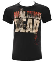 The Walking Dead Splatter T Shirt (Black)