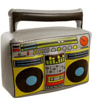 Blue Banana Inflatable Boom Box (Grey)