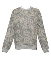 Insanity Vintage US Dollars Sweatshirt (Grey)