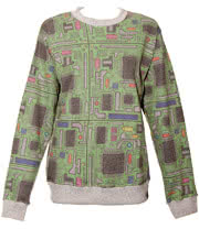 Insanity Vintage Circuit Board Sweatshirt (Green)