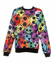 Insanity Headphones Skulls Sweatshirt (Multi Coloured)