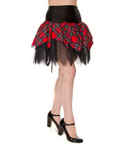 Insanity Tartan Mini Skirt (Red)