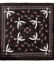 Blue Banana Pirate Skull Bandana (Black)
