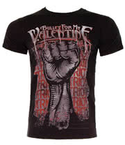 Bullet For My Valentine Riot T Shirt (Black)