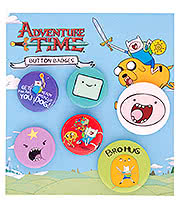 Adventure Time Finn Badge Set