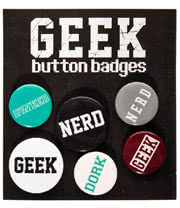 Geeks & Nerds Badge Set
