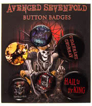 Avenged Sevenfold Hail King Badge Set