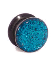 Blue Banana Glitter Ear Plug (Blue)