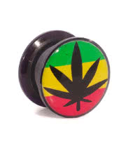 Blue Banana Rasta Leaf Ear Plug (Multi-Coloured)