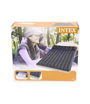 Intex Double Fabric Air Bed (Blue)