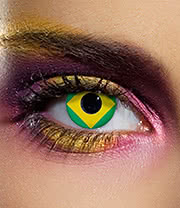 EDIT 90 Day Brazil Flag Contact Lenses (Yellow)